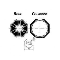 Kit roue/couronne Axe Deprat Octo ø40